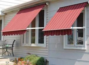 falls glass stationary roll up awning